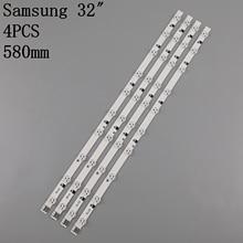 (New kit) 4pcs 10LEDs 580mm LED backlight  strip for UE32EH5000KX D1GE 320SC1 R3 32F 3535LED 40EA BN96 24146A D1GE 320SC1 R2