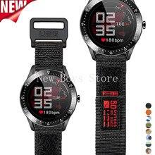 22 24 26mm náilon pulseiras de relógio para samsung galaxy 3 45mm para grea s3 frontier clássico cinta esporte loop para huawei gt2 pro 46