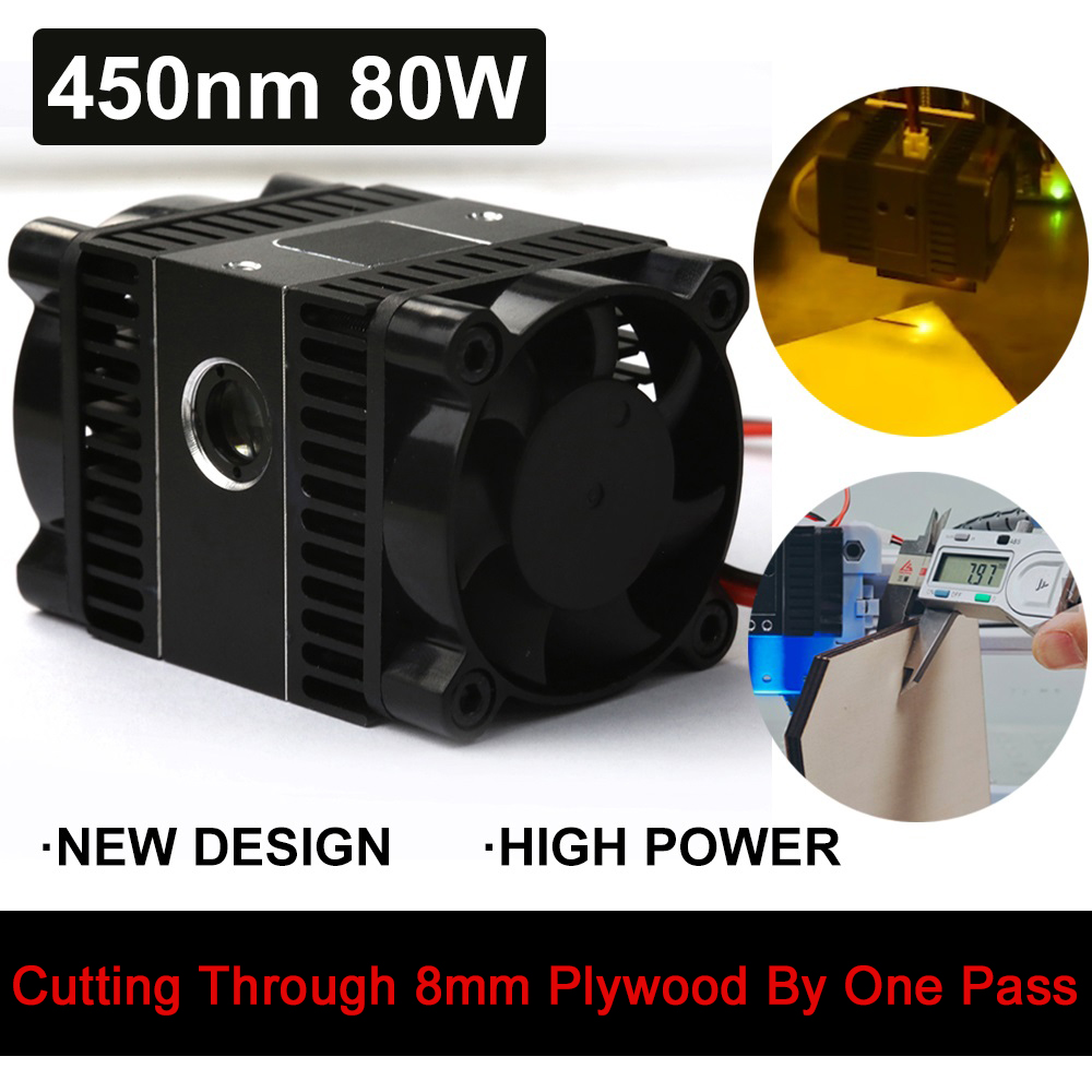 450nm 80W-Professional Version, Focal Fixed, laser module,compressed spot technology,laser head,laser cutting tool