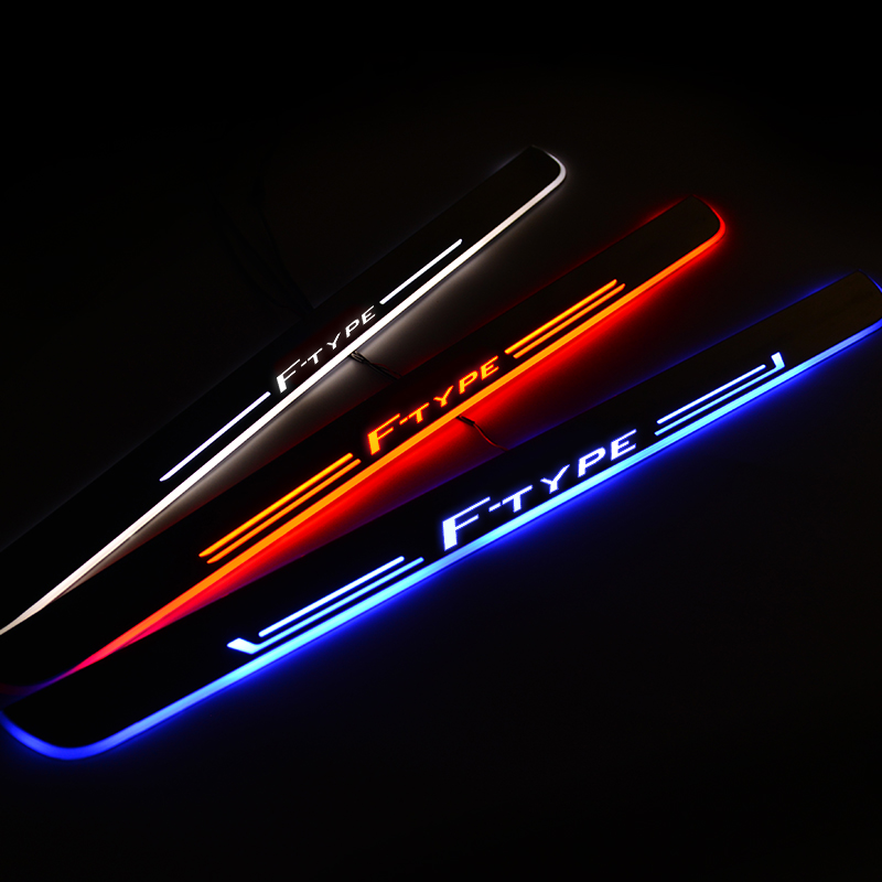 LED Door Sill For Jaguar F-TYPE Convertible X152 2012 Door Scuff Plate Entry Guard Threshold Welcome Light Car Accessories