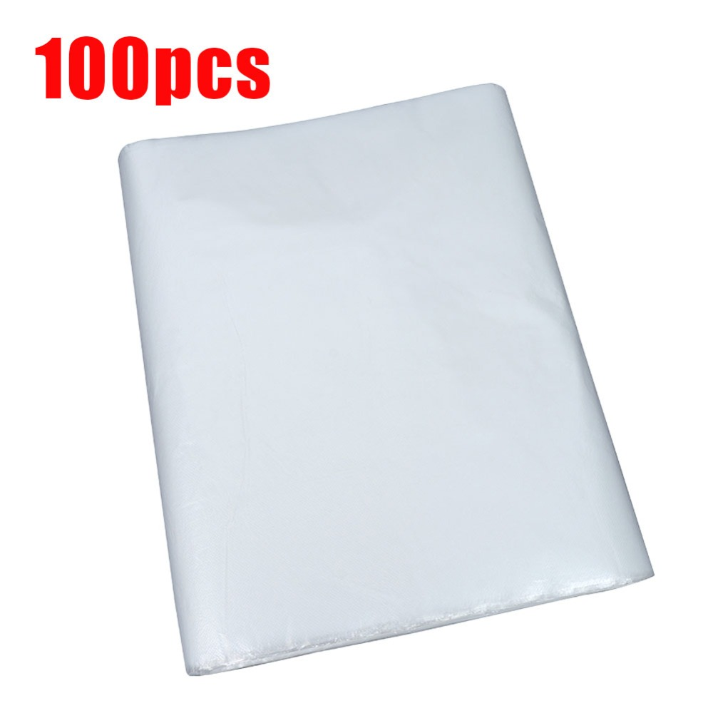 100 Pcs Disposable Hairdressing Capes PE Waterproof Transparent pron Cutting Perm Dye Hair Cape Barber Hairdressing Cloth