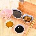 Homies1PC тарелка для соевого соуса многофункциональная любовь в форме листа маленькие блюдца приправа маленькие тарелки для уксуса/салата сое...