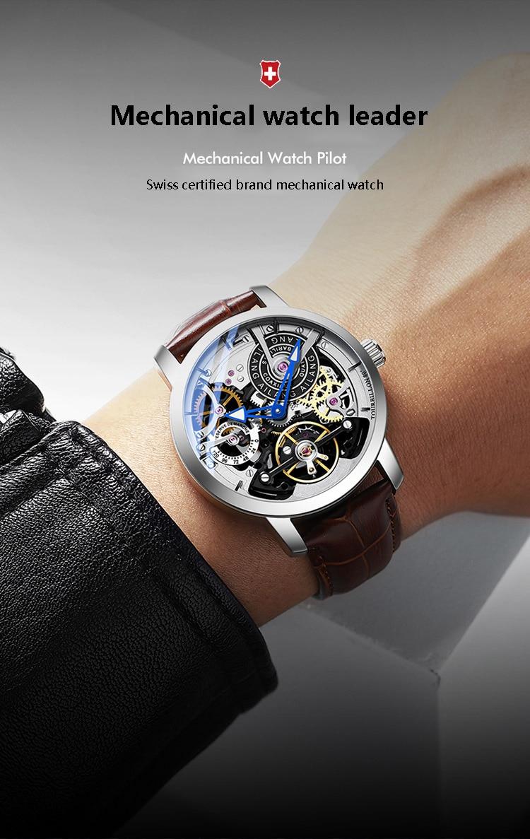 Hae313fc8e3ce40b3a2e26a198f0b287cm AILANG Original design watch automatic tourbillon wrist watches men montre homme mechanical Leather pilot diver Skeleton 2019