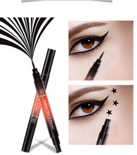1Pc Double-Headed Seal Liquid Eyeliner High Quality Lasting Black Eyeliner Pen Beauty Smooth Soft Stamp Eyeliner Pencil TSLM2(China)