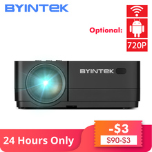 BYINTEK K7 Android Smart Wifi LED Mini Portable Video HD Projector For Iphone Ipad Smartphone Tablet Game 1080P Home Theater red cager b030 15000mah smart mobile power charger w card reader function for pokemon game iphone ipad samsung smartphone tablet