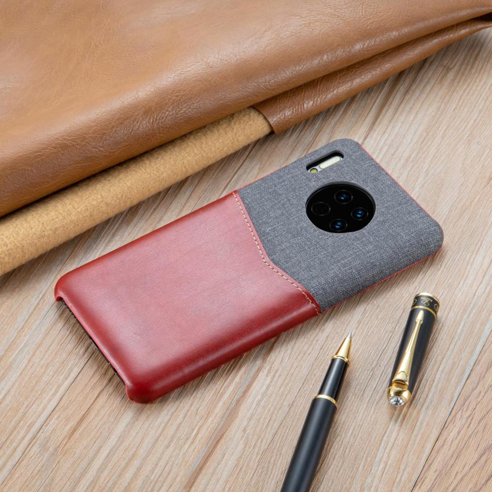 For Huawei Mate30 Pro Case Business Casual Luxury Fabric Leather Double Fight Back Cover For Huawei Mate30 Case