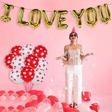 Globos de amor de 16 pulgadas, 40 Uds., globos de látex con diseño de corazón, globo de helio para boda, fiesta de cumpleaños inflable para el Día de San Valentín