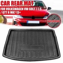Грузовой Коврик для заднего багажника для Volkswagen, для VW Golf 7 7,5/GTI R Mk7 2013 2014 2015, на поднос, подкладка для багажника, напольный ковер, протектор ко...