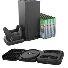 Zestaw gier dla Xbox Series X x box SX ładowarka ładująca stacja dokująca 4 szt. USB 2.0 HUB przechowywanie stanowisko chłodzące gry pudełka na płyty