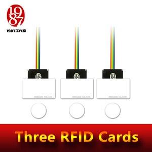 Image 1 - RFID prop room escape avventuriero gioco prop rfid prop mettere quattro ic schede in un unico per una relazione per sbloccare con audio JXKJ1987