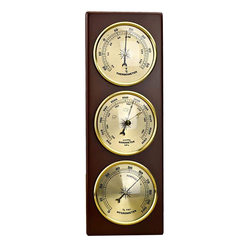 Hot Wall Barometer Thermometer Hygrometer Weather Station Hanging  Home/Office Metal MaterialTemperature Instruments