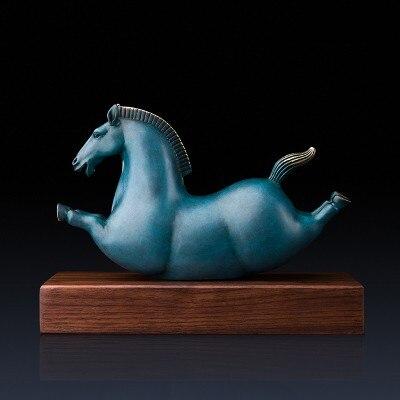 Ornements en cuivre heureux poney décorations pour la maison artisanat mignon mobilier créatif