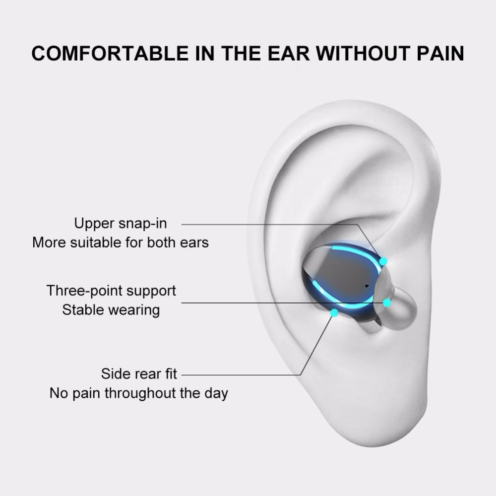 Спорт Bluetooth-гарнитура дыхание лампа интеллектуального шумоподавления светодиодный дисплей HiFi качество звука зарядки