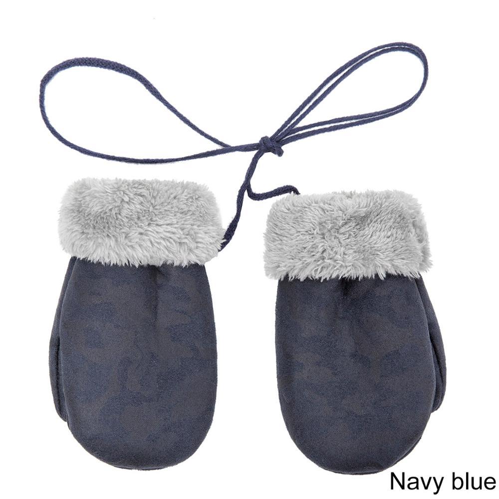 TRUENJOY, модные зимние перчатки для мальчиков и девочек, теплые, с веревкой, с полными пальцами, варежки, перчатки для детей, плюс бархатные зимние перчатки для детей - Цвет: F
