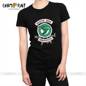 Female Tees Graphic Cotton t-Shirts Printed Ulzzang-Tops Riverdale Southside Serpents