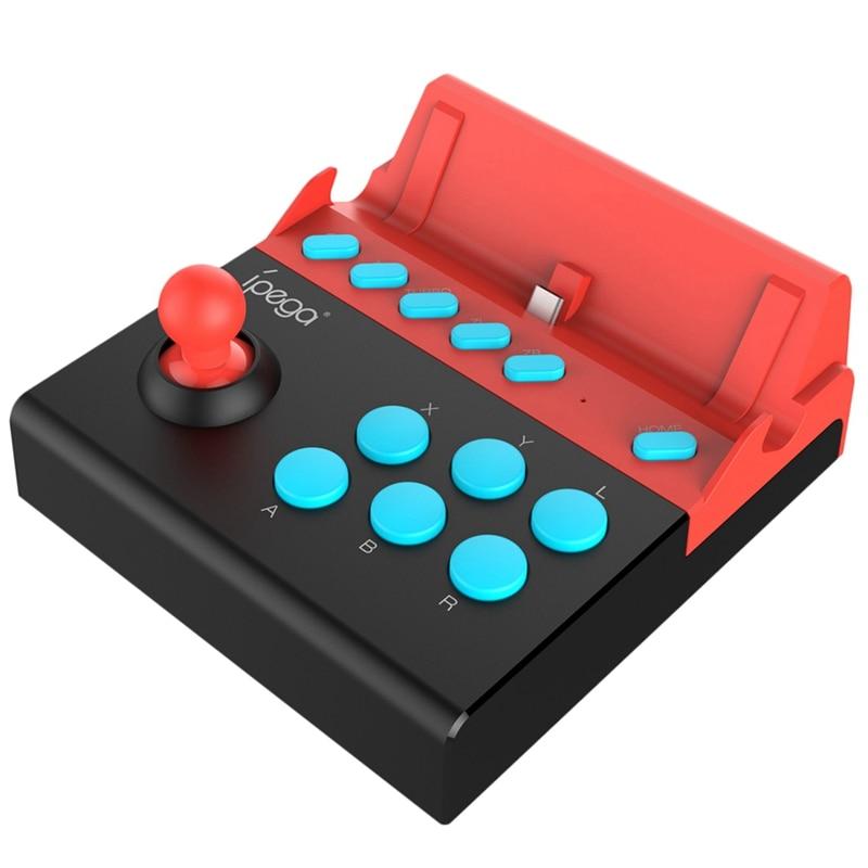 Ipega Pg-9136 Usb Arcade Joystick Gamepad For Nintendo Switch Single Rocker Games Joystick Game Controller With 8 Turbo Action B