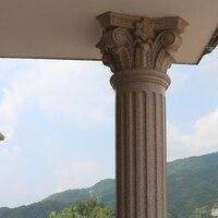 Molde redondo durável plástico da coluna do pedestal do concreto do abs das ferramentas da coluna do casamento de 20cm /7.87in com bico, folhas & gravação lisa