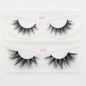 Image 4 - Visofree 25 pairs/lot Mink Lashes 3D Mink Eyelashes Cruelty free Lashes Handmade Reusable Dramatic Eyelashes Makeup False Lashes