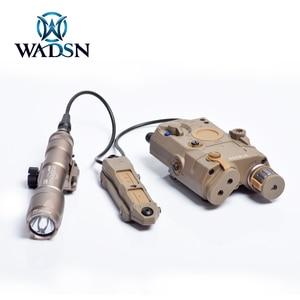 Image 5 - WADSN Taktische Remote Dual Funktion Schwanz Druck Schalter Taste Für PEQ15 16 DBAL A2 Laser Airsoft Armas M300 M600 Waffe Licht