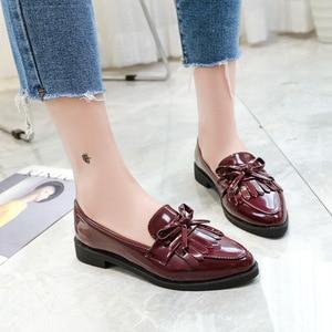 Women Flats Pointed Toe Slip o