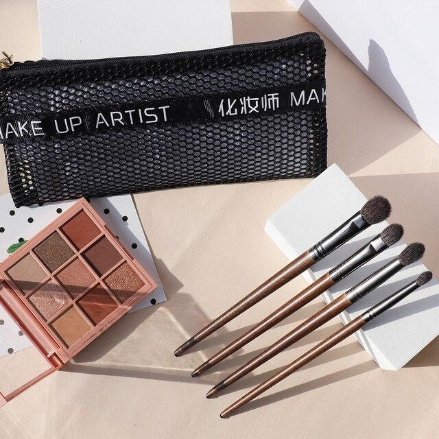 OVW 4Pcs Makeup Brushes cosmetics Tool  Powder Eye Shadow Blending Beauty Makeup Brush Sets Maquiagem 4