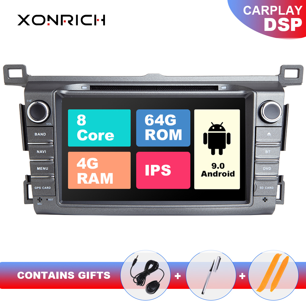 DSP IPS 4G 64G 2 Din Android 9 car multimedia dvd player GPS for <font><b>Toyota</b></font> <font><b>RAV4</b></font> <font><b>Rav</b></font> <font><b>4</b></font> 2013 <font><b>2014</b></font> <font><b>2015</b></font> <font><b>2016</b></font> <font><b>2017</b></font> 2018car radio stereo image