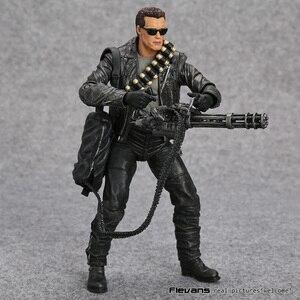 """Image 3 - NECA Terminator 2: Urteil Tag T 800 Arnold Schwarzenegger PVC Action Figure Sammeln Modell Spielzeug 7 """"18cm"""