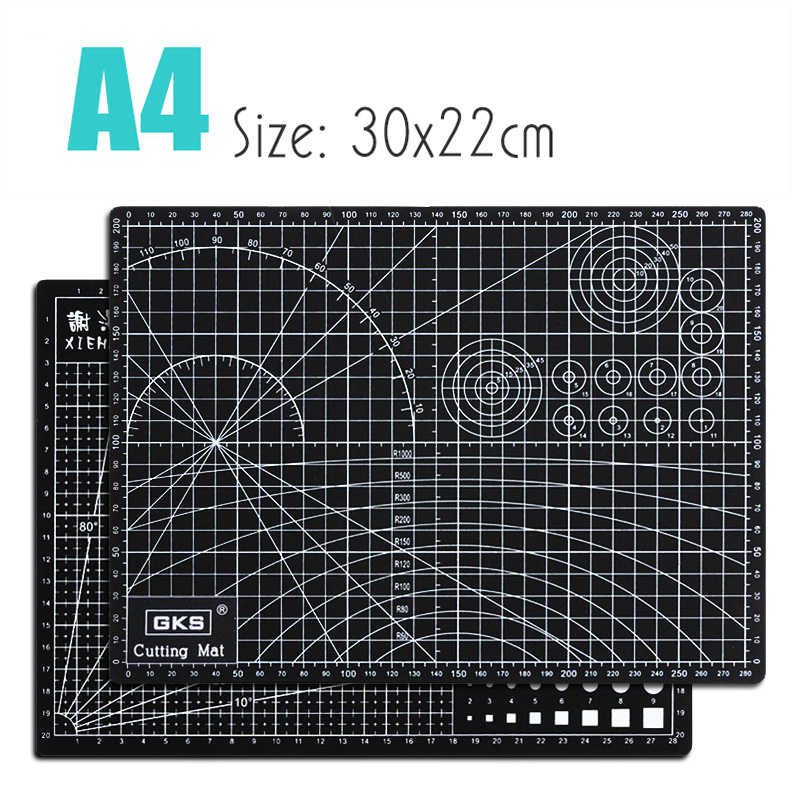 Cutting Pad Black 3mm Rectangular Self-healing 5 Layers Pvc A4 Cutting Mat Pvc Cutting Mat Patchwork Cutting Mats Cutting Board
