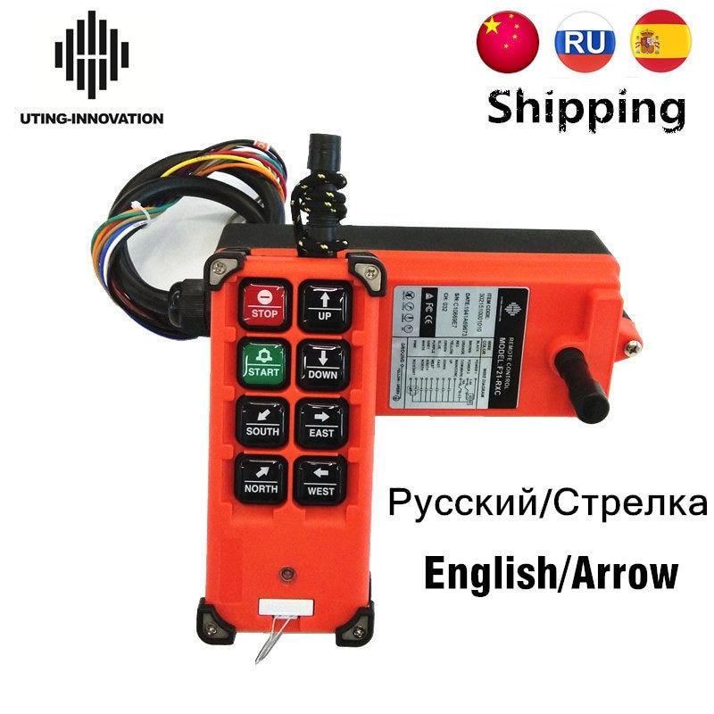 2T+1R Telecrane F21-4S 65V-440V Hoist Crane Wireless Remote Control 220V 380V