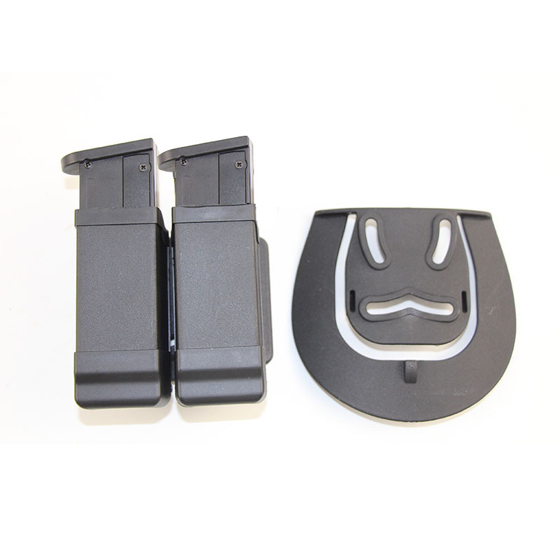 Tactical Double Magazine Mag Pouch for Glock 17 19 Beretta M92 Sig USP 9mm .45 caliber Bullet mags Clip Magazine Holster Case