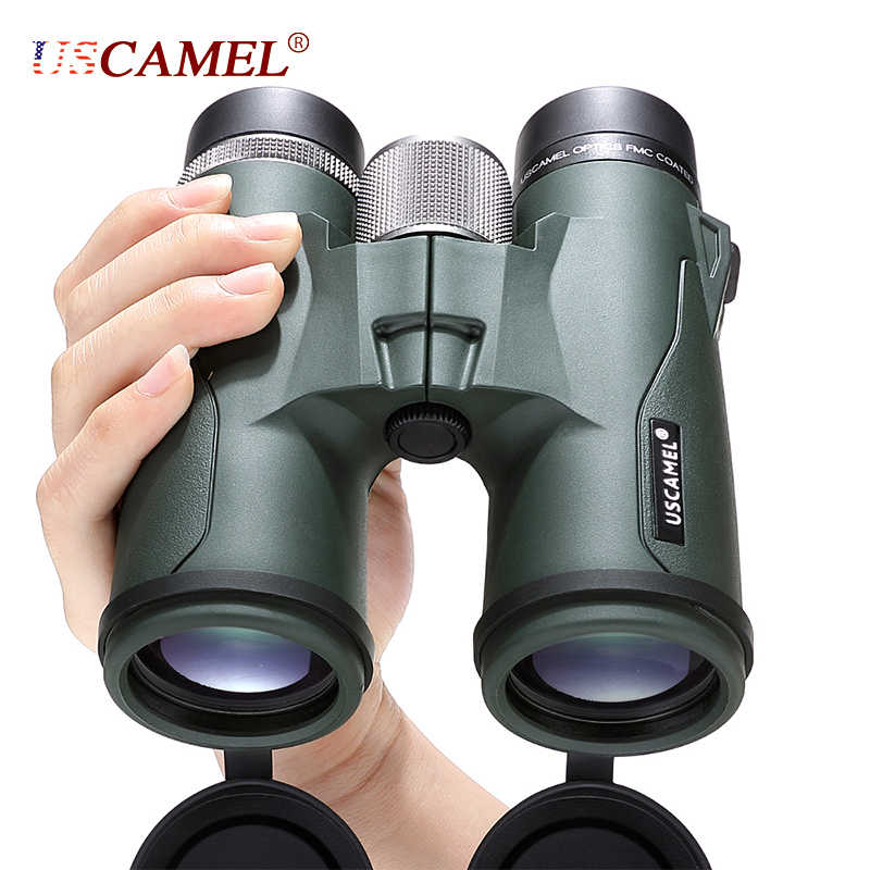 Uscamel 10X42 8X42 Hd BAK4 Verrekijker Militaire High Power Telescoop Professionele Jacht Outdoor Sport Bird Watching camping