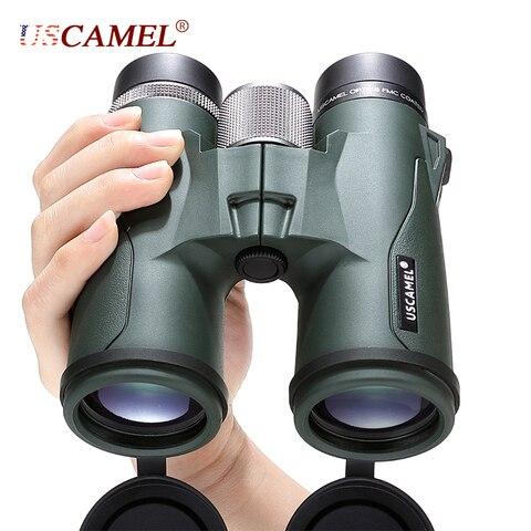 uscamel 10x42 8x42 hd bak4 binoculos militar telescopio de alta potencia profissional caca esportes ao