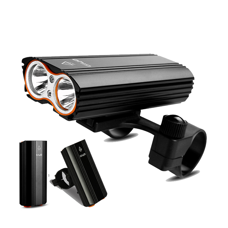 GIYO Bicycle Front Light Bicycle 2400Lm Headlight T6 Leds Cycling Flashlight For Mountain Bike Or Road Bike