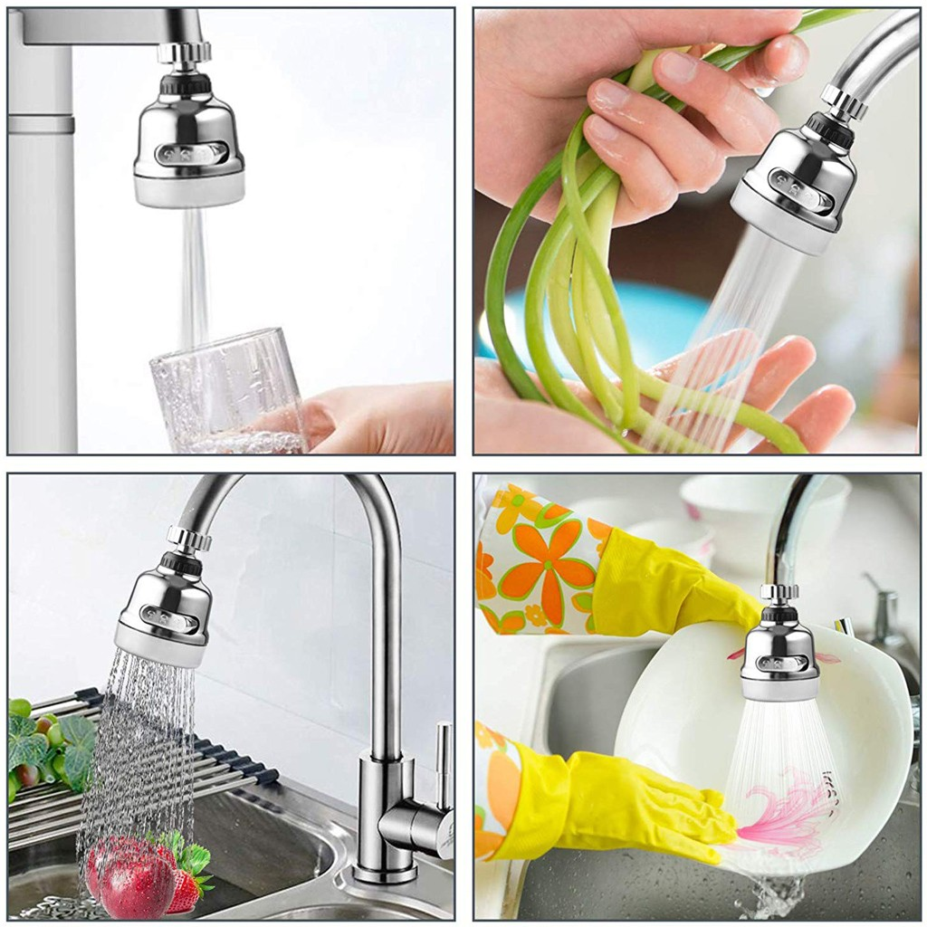 360 Degree Rotary Swivel Faucet Nozzle Anti-splash Water Filter Adapter Shower