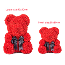 Artificial Flowers Rose Bear Girlfriend Anniversary Christmas Valentine's Day Gift Birthday Present For Wedding Party Decoration цена
