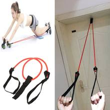 Ab Roller Pull Seil Bauch Übung Gym Fitness Widerstand Bands Latex Rohr(China)