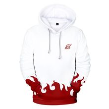 New Naruto Mens Hoodie Fashion 3D Trend Print Casual Personality