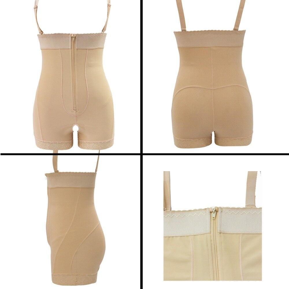 Women Open Crotch Underbust Corset Shapewear Bodysuit Tummy Slimming Sheath Control Pants Belly Corrective Underwear Beige S-6XL (1)