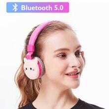 귀여운 고양이 귀 무선 블루투스 헤드폰 아이 소녀 음악 헤드셋 게임 헤드폰 아이폰 11 화웨이 메이트 30 Xiaomi 선물