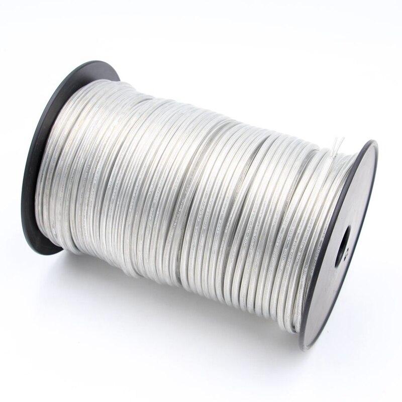 Новый прозрачный Электрический провод, ПВХ прозрачный круглый кабель, 2 ядра, 3 ядра, 0,75 мм2, шнур питания, светильник