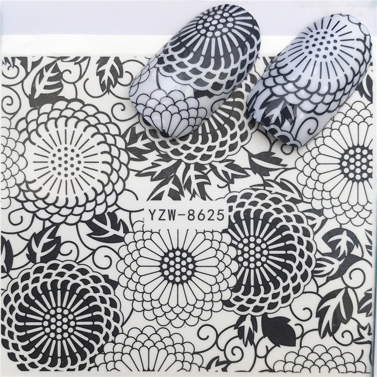 Yzwle Nail Sticker South Korea Nail Sticker Lace Flower Manicure Implement DIY Nail Ornament