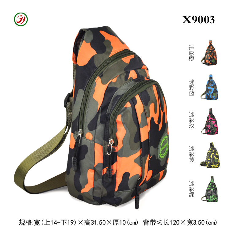 [Factory Price] Men's Women's Chest Pack Shoulder Sports Backpack Multi-functional Outdoor Shoulder Theft X9003
