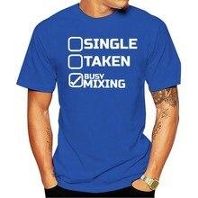 Camisa dos homens T Único Retirado Ocupado de Mistura DJ Music Party T-Shirt 2021 Das Mulheres