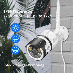 Image 3 - Hiseeu Wifi açık IP kamera 1080P 720P su geçirmez 2.0MP kablosuz CCTV güvenlik kamera metal iki yönlü ses p2P Bullet ONVIF