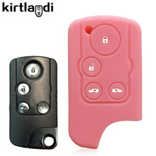 Silicone caso chave capa acessórios do carro para honda gratuito pico híbrido stepwgn spada rg1 4 botões de controle remoto fob chave titular