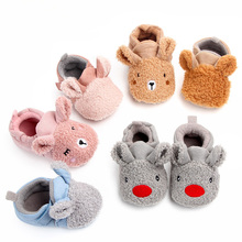 2019 Winter Baby Teddy Cashmere Shoes 0-1 Years Old Newborn Autumn and Plus Velvet Thick Warm