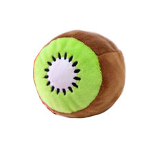 cat toy Cute round kiwi toy Fruit Pet Dog Shape Interactive Dog Chewing Toys Play Fun Clean Teeth Toy Pet interactive cat toy#p2(China)