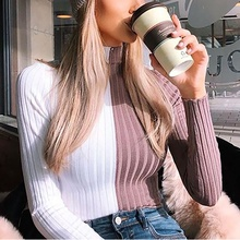 Womens Sweaters 2019 Autumn&Winter New Turtleneck Sweater Pullover Jumper Knit Skinny Sexy Short