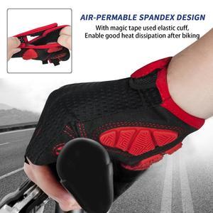 Image 5 - Противоударные велосипедные перчатки MOREOK, MTB велосипедные перчатки, дышащие велосипедные перчатки для езды на велосипеде, Нескользящие велосипедные перчатки для мужчин