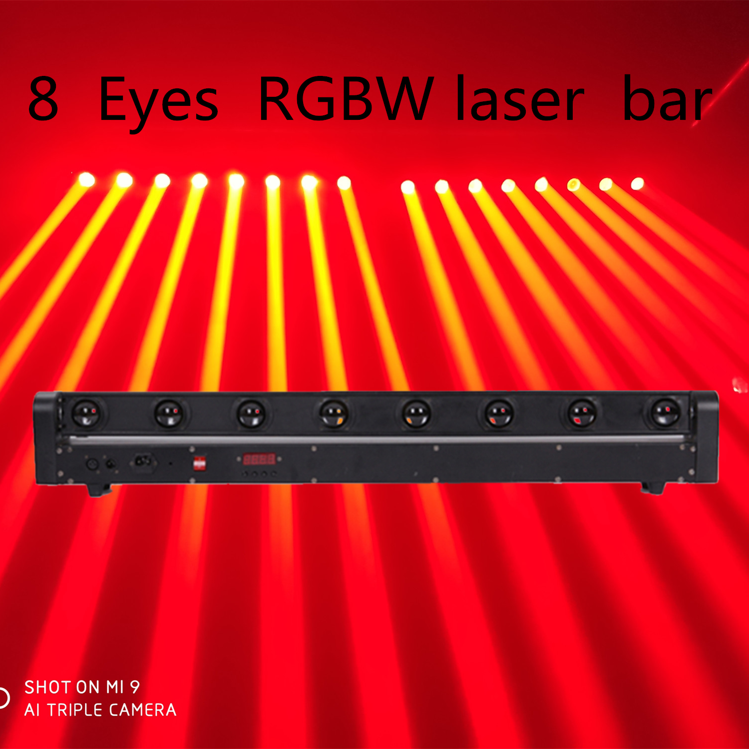 F&G       Rough Beam Single Red Green Eight Eyes Beam Scanning 8 Head 8 Hole Moving Head Laser Laser Lamp KTV Bar Wedding Show
